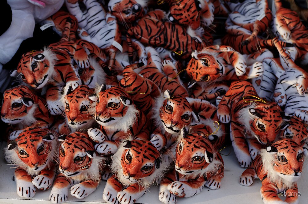 Tiny fairground tigers by sbyrne