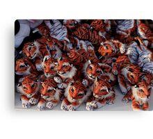 Tiny fairground tigers Canvas Print