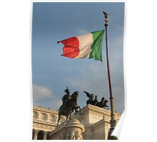 Italian Flag on Il Vittoriano Poster