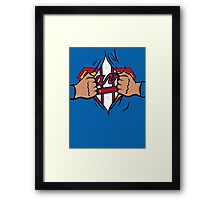 Super Braves Framed Print