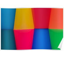 Abstract Multi Coloured Background Poster