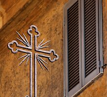Cross and Window - Vatican City. by Samantha Higgs