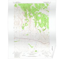 USGS Topo Map Oregon Sage Hen Hill 281356 1981 24000 Poster