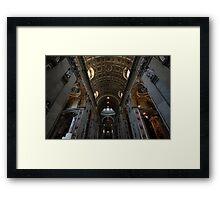 Interior of St Peter's Framed Print