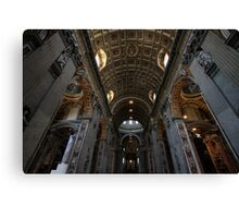 Interior of St Peter's Canvas Print