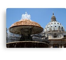 The Dome of St Peter's Canvas Print