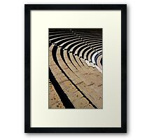 Seating - The Large Theatre - Pompeii Framed Print
