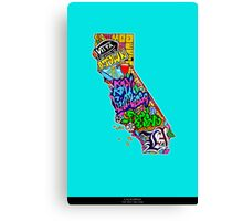 CALIFORNIA State of Mind Canvas Print
