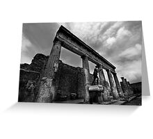 Temple Ruins - Pompeii Greeting Card