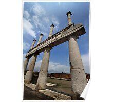 Pillars in Pompeii Poster
