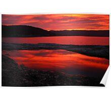 red pool. eastcoast, tasmania Poster