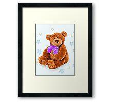 Teddy with bow  Framed Print