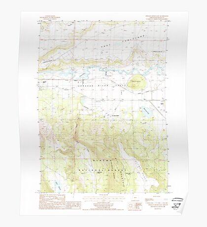 USGS Topo Map Oregon Sprague River East 281583 1988 24000 Poster