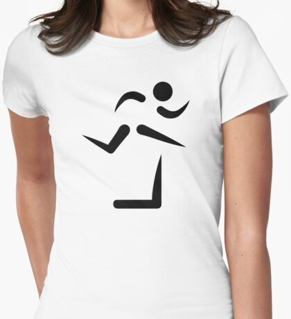 Hurdles Womens Fitted T-Shirt
