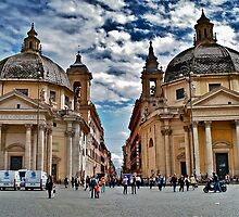 Twin Churches, Rome, Italy by Ali Brown