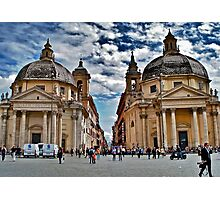 Twin Churches, Rome, Italy Photographic Print