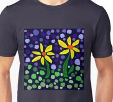 Cheerful Yellow Daisy Floral Abstract Unisex T-Shirt