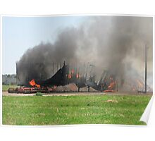 Flames Destruction Poster