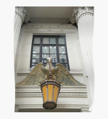 Eagle and Lamp, Landmark 1897 Building, New York  Poster