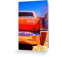 MERCURY REAR Greeting Card