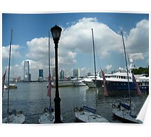 Jersey City, New Jersey Skyline, Hudson River, Manhattan View Poster