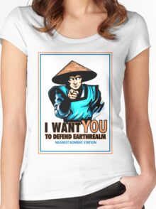 I Want YOU For Kombat Women's Fitted Scoop T-Shirt