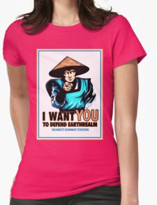 I Want YOU For Kombat Womens Fitted T-Shirt