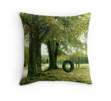 SWING LOW Throw Pillow