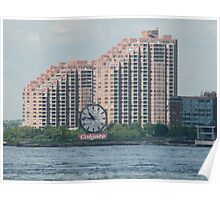 Classic Colgate Clock, Jersey City, Manhattan View Poster