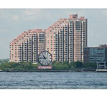 Classic Colgate Clock, Jersey City, Manhattan View Photographic Print