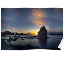 Silhouette Rocks Poster