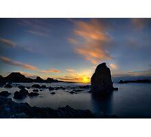Silhouette Rocks Photographic Print