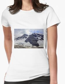View of the Marmolada Glacier Womens Fitted T-Shirt