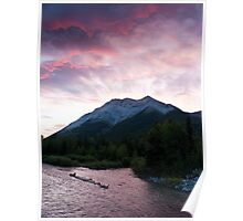 Sunrise Over Mountains Poster