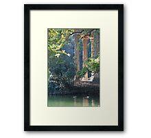 Sunshine on the Temple Framed Print