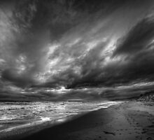 13th Beach in Black & White by Heather Prince ( Hartkamp )