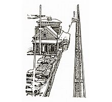 Kingston Railroad Station - Pen & Ink *featured Photographic Print