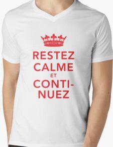 Restez Calme et Continuez Mens V-Neck T-Shirt