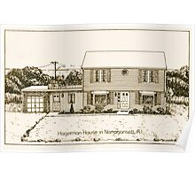 Hagerman House - Narragansett - Pen & Ink Poster