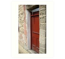 Red Door - St. Augustine Art Print