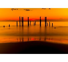 Port Willunga in Blazing Orange Photographic Print