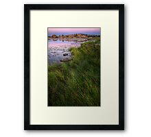 Twilight and Grass Framed Print