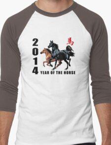 2014 Year of The Horse Men's Baseball ¾ T-Shirt