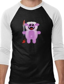 SHEEP 2 (Cute pet with a sharp knife!) Men's Baseball ¾ T-Shirt
