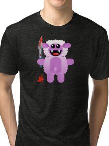 SHEEP 2 (Cute pet with a sharp knife!) Tri-blend T-Shirt