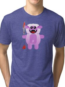 SHEEP 2 (Cute pet with a sharp knife!) Tri-blend T-Shirt