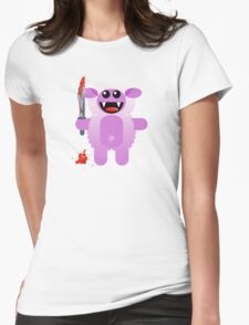SHEEP 2 (Cute pet with a sharp knife!) Womens Fitted T-Shirt