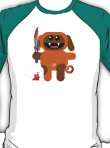 DOG 2 (Cute pet with a sharp knife!) T-Shirt
