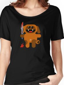 DOG 2 (Cute pet with a sharp knife!) Women's Relaxed Fit T-Shirt