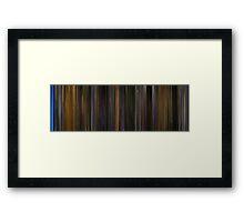 Moviebarcode: Gattaca (1997) Framed Print
